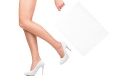 Shopping in white royalty free stock photo