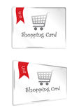 Shopping white gift card Stock Photography