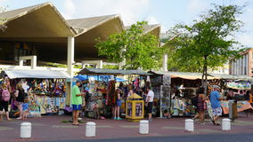Shopping in Willemstad, Curacao Royalty Free Stock Images