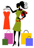 Shopping woman Stock Photo