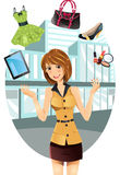 Shopping woman royalty free illustration