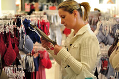 Shopping woman. Royalty Free Stock Image