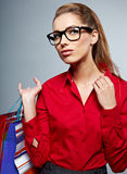 Shopping woman Royalty Free Stock Images