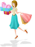 Shopping woman. Woman at shopping. clipping path included Royalty Free Stock Photo