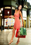 Shopping  woman. Shopping smile woman in the mall Royalty Free Stock Photography