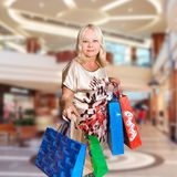 Shopping woman - 50 years old Stock Photos