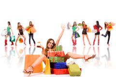 Shopping woman Royalty Free Stock Photography