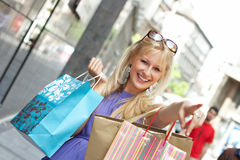 Shopping woman Stock Images