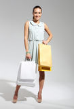Shopping woman with bag. Stock Photography