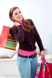 Shopping woman with bags Royalty Free Stock Image