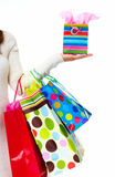 Shopping woman with bags. Stock Image