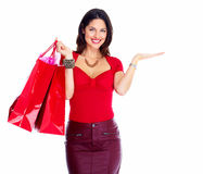 Shopping woman. Stock Photos