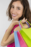 Shopping woman close up Stock Photography