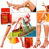 Shopping woman collage Royalty Free Stock Photography