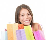 Shopping woman cute Royalty Free Stock Photos