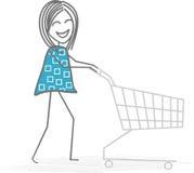 Shopping. A woman do shopping at the supermarket Royalty Free Stock Photos