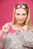 Shopping woman fashion happy bag Royalty Free Stock Images