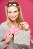 Shopping woman fashion happy bag Stock Photos