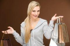 Free Shopping Woman Fashion Happy Bag Stock Photo - 19009930
