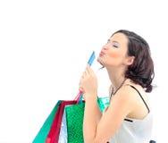Shopping woman happy Royalty Free Stock Photo