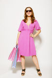 Shopping woman. With happy smile Stock Photography