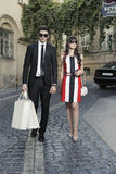 Shopping woman and helper man Royalty Free Stock Photos
