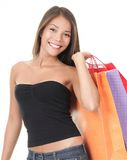 Shopping woman holding bags Royalty Free Stock Photo