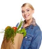 Shopping woman holding bags, Stock Photos