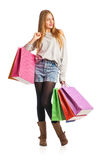 Shopping woman holding shopping bags Stock Photography