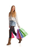 Shopping woman holding shopping bags Stock Photo