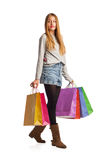 Shopping woman holding shopping bags Royalty Free Stock Photography
