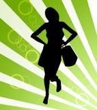 Shopping woman illustration Stock Image