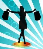 Shopping woman illustration Stock Photo