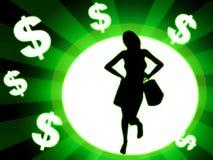 Shopping woman illustration Royalty Free Stock Photography