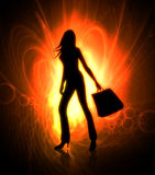 Shopping woman illustration Royalty Free Stock Photos