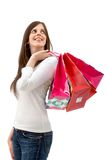 Shopping woman isolated Royalty Free Stock Image