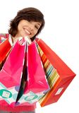 Shopping woman isolated Stock Photos