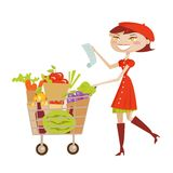 Shopping woman isolated Stock Image