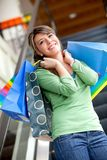 Shopping woman at a mall Stock Photo