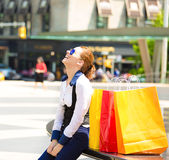 Shopping woman in New York City. Royalty Free Stock Photography