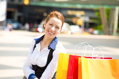 Shopping woman in New York City. Royalty Free Stock Photo