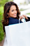 Shopping woman outdoors Royalty Free Stock Photos