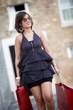 Shopping woman outdoors Royalty Free Stock Photography