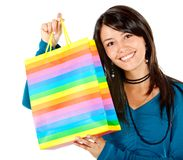 Shopping woman portrait Stock Photos