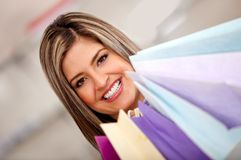 Shopping woman portrait Royalty Free Stock Image
