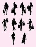 Shopping Woman Silhouette Royalty Free Stock Photo