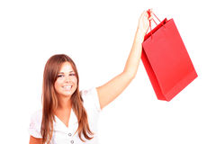 Shopping woman smiling Royalty Free Stock Photos