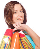 Shopping Woman Smiling. Stock Images
