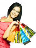 Shopping Woman Smiling. Royalty Free Stock Images