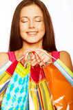 Shopping Woman Smiling. Stock Image